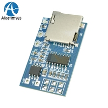 GPD2846A TF Card MP3 Player Decoder Board Mixed Mono 2W Amplifier Module for Arduino GM Power Supply Module Support MP3 FM Radio(China)