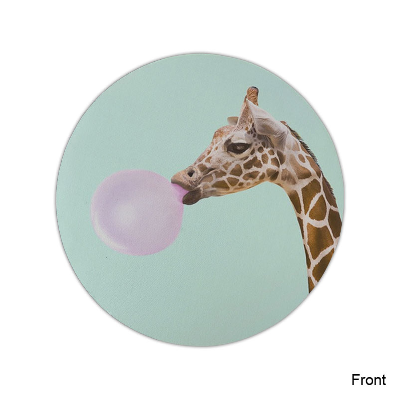 Funny Giraffe Mouse Pad Round Mat (3)