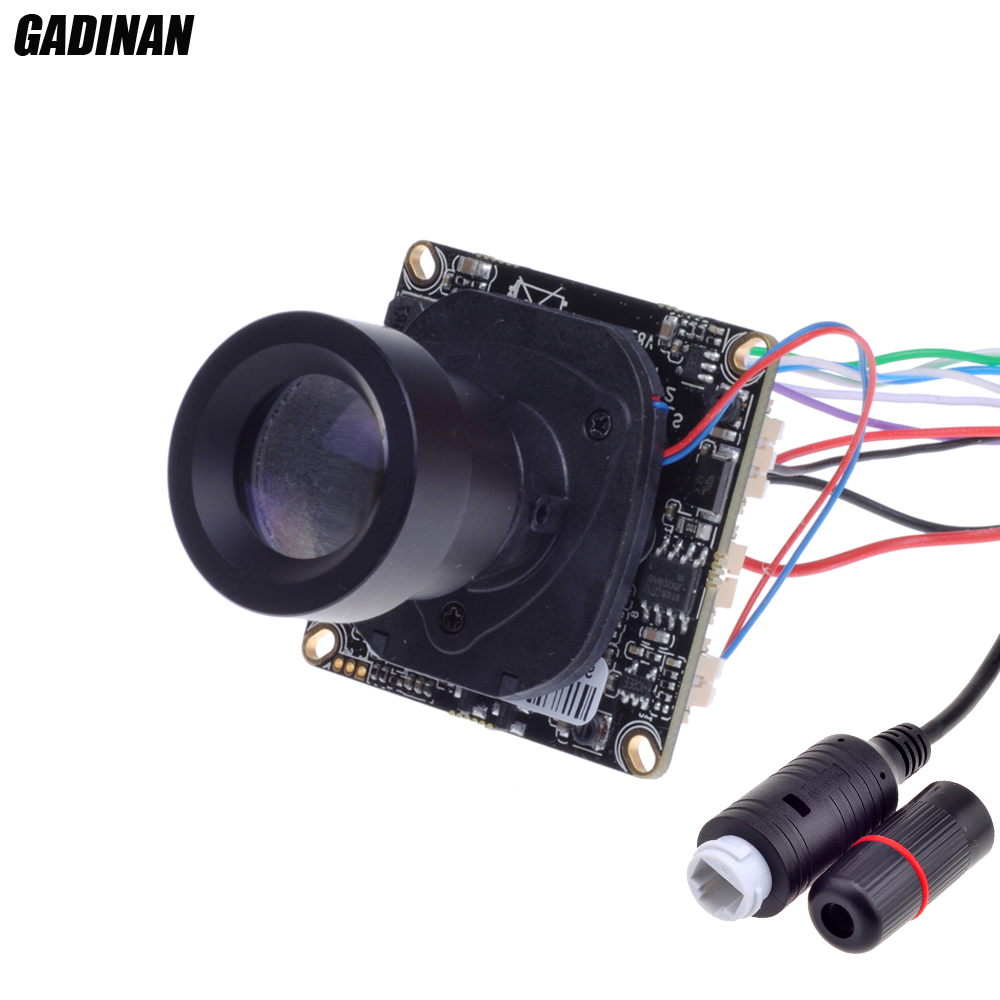 GADINAN Hi3516CV300 1/2.7 F22 CMOS H.265 2.0MP POE IP Camera 1080P 25mm ONVIF CCTV Indoor camera Board Sensor Security IR-CUT<br>