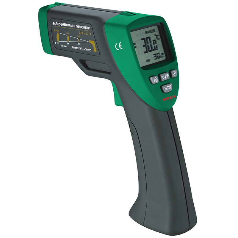 1pcs MASTECH MS6530B 12:1(D:S) Digital Non-contact Infrared Thermometer IR Temperature Meter with Laser Sighting and Backlight<br>