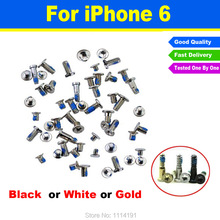 Brand New High Quality For iPhone 6 6G 4.7 Complete Full Screw Set With 2 Botton Screws Replacement  Accessories With PP Bag
