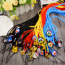 Cute Cartoon Flexible Strap Anti-slip Soft Silicone Mobile Phone Straps For Cord Phone Hand Rope Wholesale Hot Sales(China)