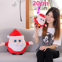 1pc 20cm New Nice Christmas Gift Staffed Father Christmas Elk Penguin Plush Toy with Music Kawaii Toy(China)