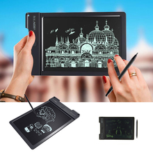 Drawing Board Portable Digital Writing Tablet With LCD Writing Screen + Drawing Pen 9 inch Handwriting Pads Drawing Toy For Kids(China)