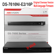 DS-7616NI-E2/16P Hik 16ch NVR 16POE port CCTV Recorder 2SATA interface for 2HDD cheap NVR Upto 6MP resolution recording CCTV NVR