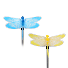2Pcs Color Changing Solar Powered Garden Pathway Lawn Landscape Decoration LED Butterfly Lamp Light(China)