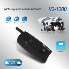Vnetphone Hot Sale Motorcycle Intercom Bluetooth Helmet Headset 1200M 2 Riders Communication Wireless Interphone CSL2(China)