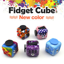 Colorful Fidget Cube Toys Desk Spin Mini Magic Cubes Stress Relief Toys Gifts For Boys Girls ABS Material Puzzle Cube Full Toys(China)