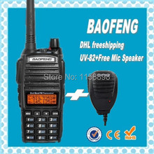 DHL freeshipping+baofeng uv-82 vhf uhf dual band portable ham 2 way radio station with Mic speaker midland quality uv5r price