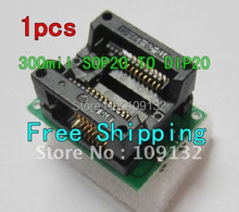 SO20 SOIC20 SOP20 to DIP20 wide 300mil  IC Test Socket / Programmer Adapter / Burn-in Socket OTS-28-1.27-04 NEW