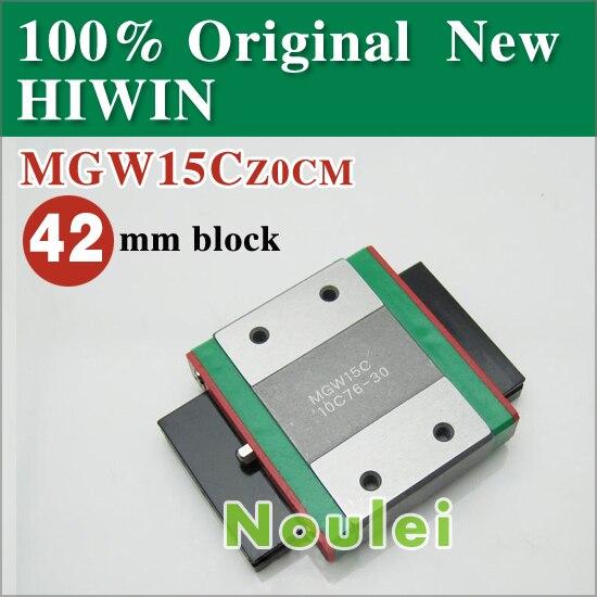 mini cnc HIWIN linear guideways MGW15C or MGW15H slider block MGW15 of 42 mm rail MGW 15 series<br>