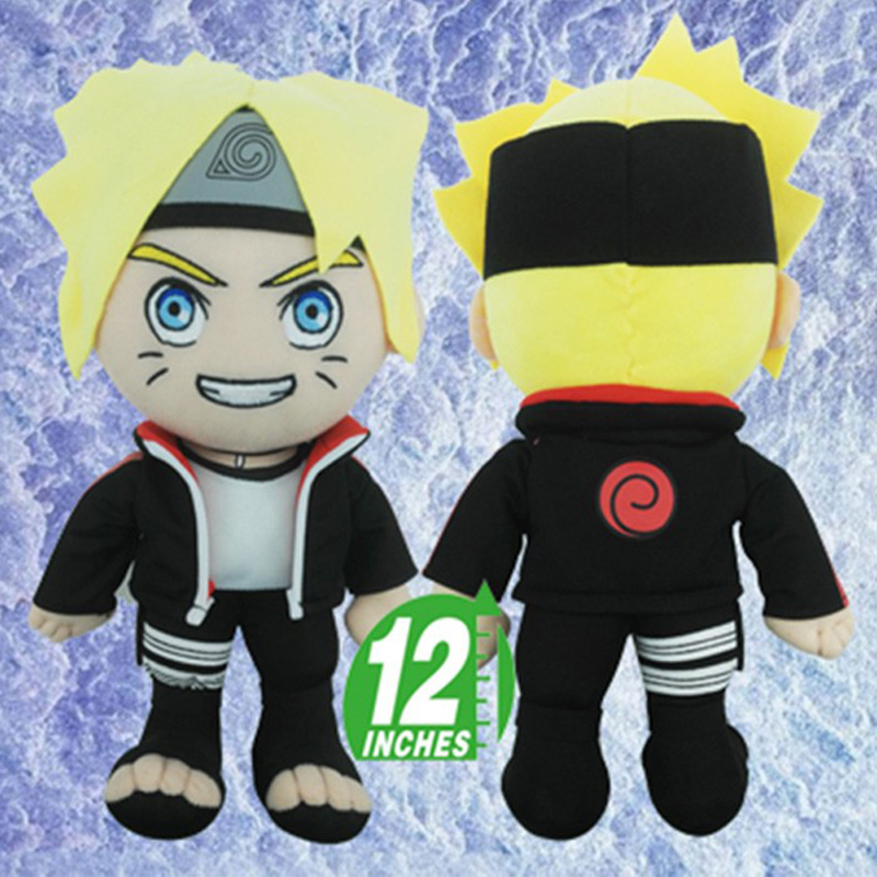 Naruto-Boruto Newest Style Dolls Uzumaki Boruto & Naruto PP Cotton Material Stuffed Toys Birthday Gift(China (Mainland))