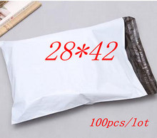 E3  free shipping 100pcs/lot 28*42cm,white Express Bag Poly Mailer Mailing Bag Envelope Self Adhesive Seal Plastic Bag