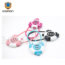 New password lock wire rope password children travel bags panda digital password padlock(China)