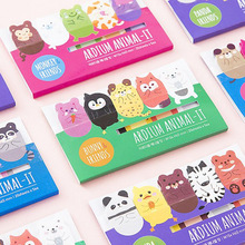 Korea cute animal bookmark tap sticker paper for diary/weekly planner,mini cartoon memo pad school stationery supplies 4sheet