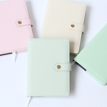 2017 Macaron Personal Organizer Kawaii Leather Business Office Agenda Notebook Cute Kawaii Planner A5