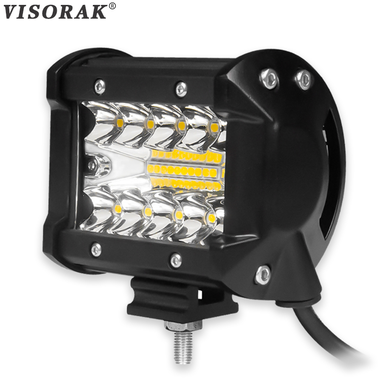 VISORAK 2017 New 4 Inch 60W LED Work Light Bar Combo Offroad Motorcycle Foglights LED Beams For Boats ATV UTV SUV Jeep Truck<br>