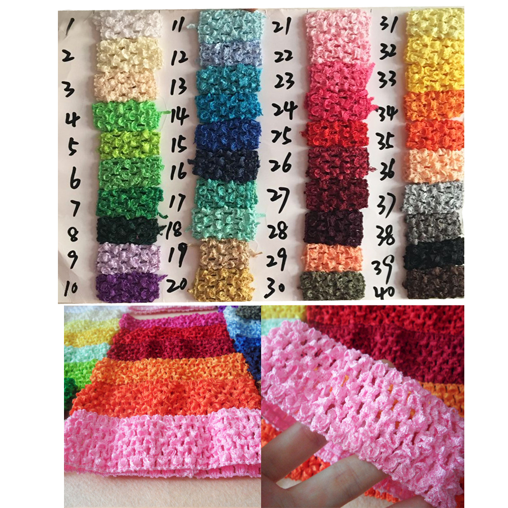 Wholesale 24 pcs Crochet Headband With 1.5 inch Acrylic