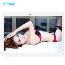 CIGE M9 Tablet PC 10.1 Inch Android 6.0 Octa Core 4GB RAM 64GB RAM 1920x1200 HD IPS Dual SIM and Camera WiFi GPS Bluetooth FM(China)