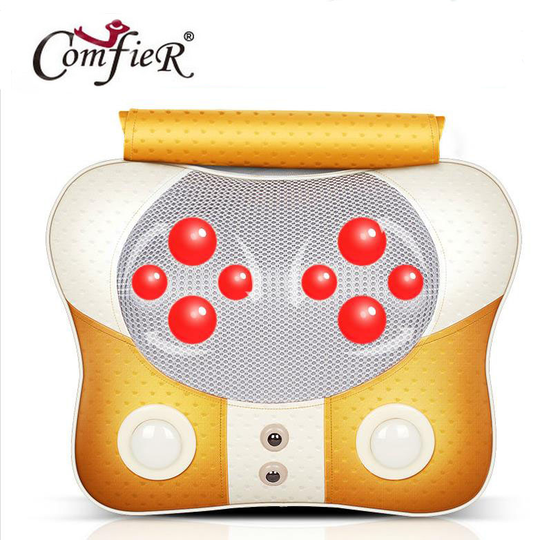 High Quality Home Dual-use Nultifunction Dish Pillow Massager of Headrest Backrest Massage Pillows Cervical Lumbar Leg Massager<br>