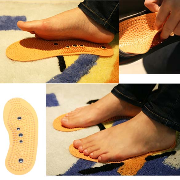 Foot Care Magnetic Foot Acupuncture Point Therapy Foot Insoles Shoe Pads Massage Comfort Shoe Cushion(China (Mainland))