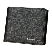 Men 100% brand new and high quality Leather Card Cash Receipt Holder Organizer Bifold Wallet Mini Purse