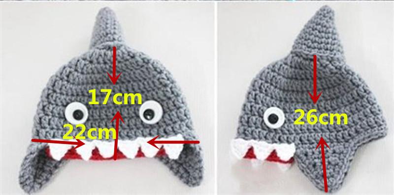 """""""Baby Shark"""" Shark Wool Hat for Children 2"""