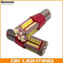 2PCS New White T10 168 192 2825 W5W 57 SMD LED CANBUS NO Error Car Marker Parking Light Bulb Super Bright