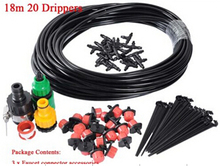 20m Hose  Micro Irrigation Drip System Plant Garden Watering Kit cooling system