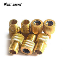 WEST BIKING Copper Presta To Schrader Air Pump Bicicleta Tools Tire Bicycle Bike Valve Type Adaptor Gas Nozzle Converter Adapter