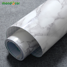 3M/5M/10M Long Modern PVC Marble Self Adhesive Wallpaper Furniture Bath Tiles Kitchen Countertop Backsplash Vinyl Wall Stickers(China)