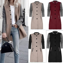Spring Autumn Winter New 2017 Women Girl Winter Long Sleeve Button Cardigan Jacket Jumper solid coats(China)