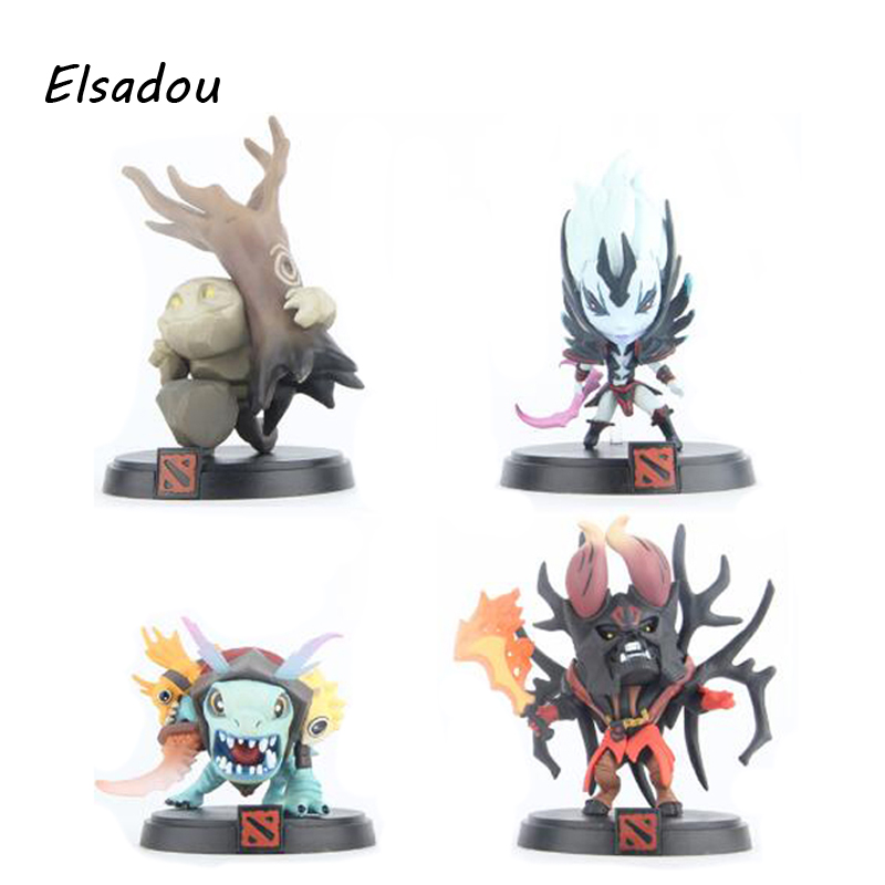 Elsadou 4pcs/lot Dota 2 PVC Action Figure Slark The Vengeful Spirit Stone Giant Doom Bringer Collection Toys<br>