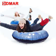 DMAR Inflatable Snow Tube For Adults Kids Skiing Sled Ski Board With Handle Snow Tire Slippery Grass Sand Float 2018 Winter NEW(China)