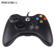 POWSTRO K USB Wired Joypad Gamepad For Xbox 360 Console Wired Controller For XBOX360 PC Game Joystick Slim Accessory PC Computer