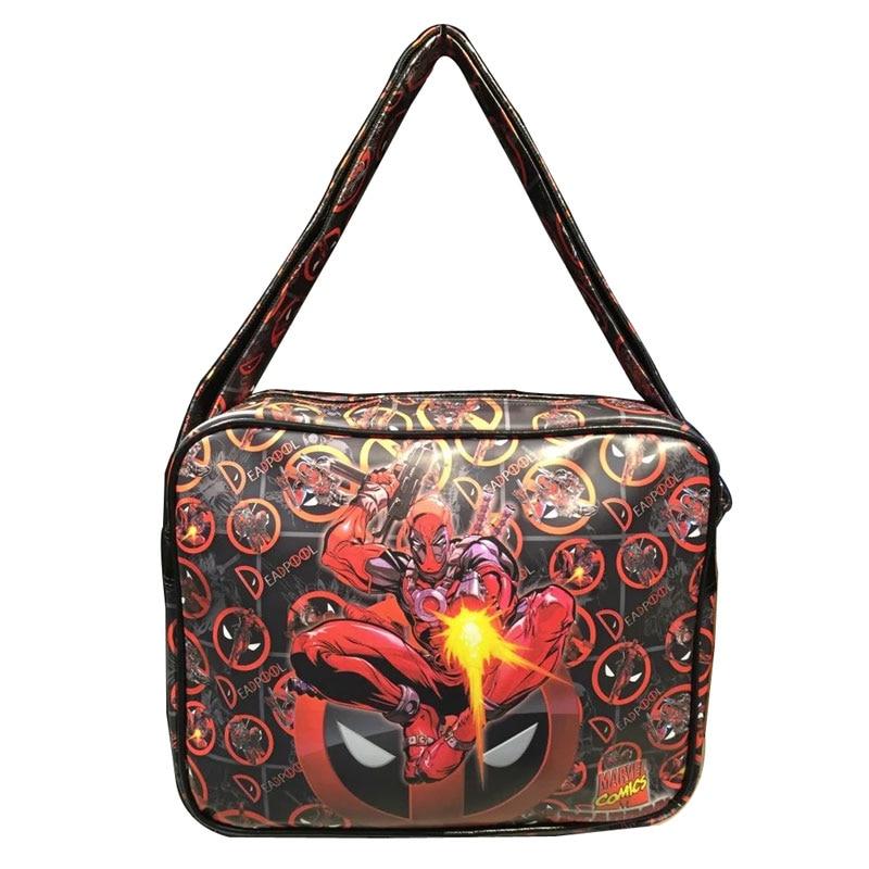 Comics Deadpool Messenger Bags Cartoon Anime Flash Ironman Deadpool Batman Thor Spiderman bolsa Gift Travel Casual Leather Bag<br><br>Aliexpress