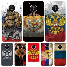 the Flag of Russian Federation bear eagle case cover for For Motorola Moto G5 G4 PLAY PLUS zuk z2 BQ M5.0