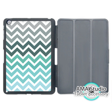 Mint Green Grey Chevron Stand Smart Cover Case For Apple iPad Mini 1 2 3 4 Air Pro 9.7 Wake UP Sleep