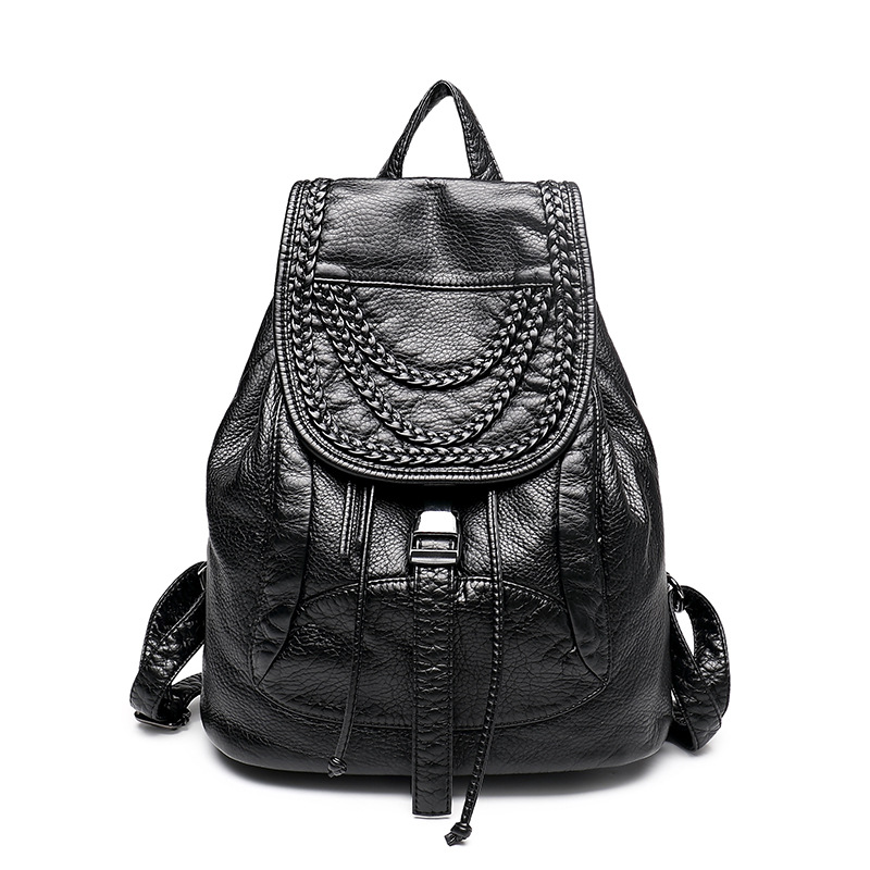 2017 HIGH Quality Women PU Leather Backpacks Fashion Ladies backpack Famous Brand Designer Bags Softback Travel Solid bag A302<br><br>Aliexpress