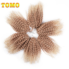 "TOMO Freetress Crochet Braid Deep Twist 8"" 3Packs 6Packs 9Packs Afro Synthetic Ombre Braiding Hair Extensions(China)"