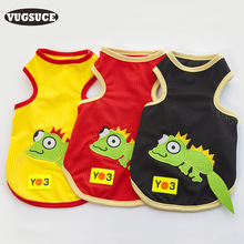VUGSUCE Cooling Summer Cartoon Dog Vest Lizard Dog Jersey Shirt Soft Costume Pet Pug Dog Clothes for Small Dogs Life Yorkshire