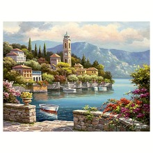 2016 Rushed Embroidery Scenic Diy Diamond Painting Party Precise Printed For Romantic harbor - Diamond Embroidery W9 47 B027