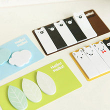 4 designs Cute Kawaii Clouds Leaves Pigs Stationery Sticker Post It Bookmarker Memo Pad Flags Sticky Notes free shipping 01857