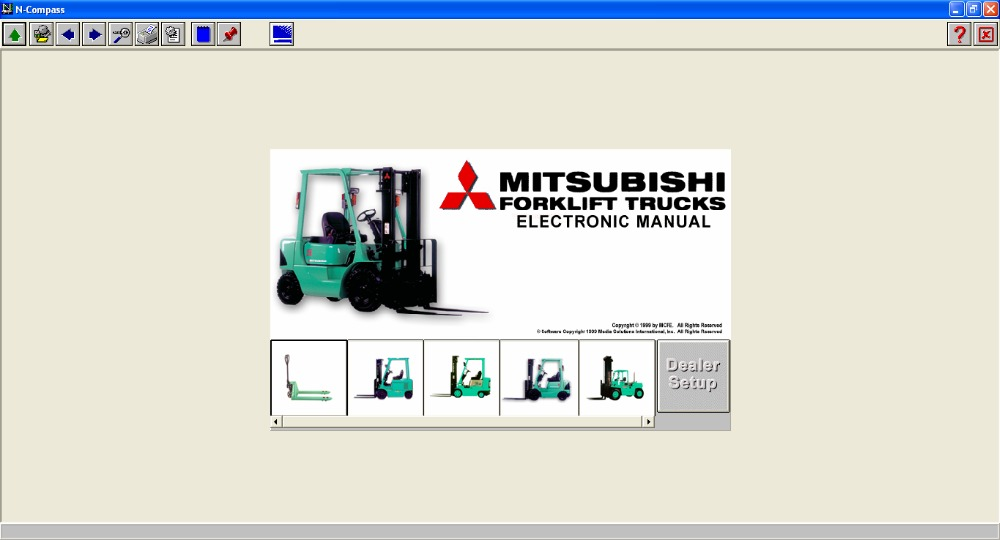 Forklift Electronic Manual (N-Compass) For Mitsubishi<br><br>Aliexpress