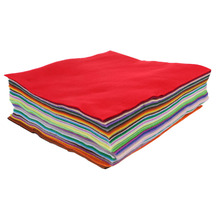 40PCS DIY Polyester Soft Felt Nonwoven Colorful Fabric Sheet Craft Work Mixed Color Home Decoration 30x30cm -Y102(China)