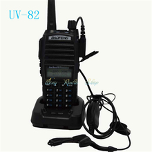Best sell Baofeng UV-82 two way Dual PTT radio handheld Dual Band 5W walkie talkie 136-174/400-520MHz FM Ham radio comunicador