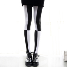 Buy Japanese Harajuku Style Contrast Color Gothic Lolita Pantyhose Stockings Girls Tights