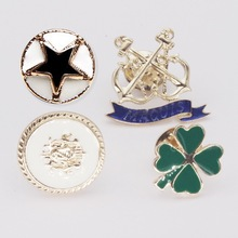 Trendy women's Brooches Fashion Vintage Oil Anchor clover Star Badge Women's Costume Brooch Pins Jewelry alfileres broches