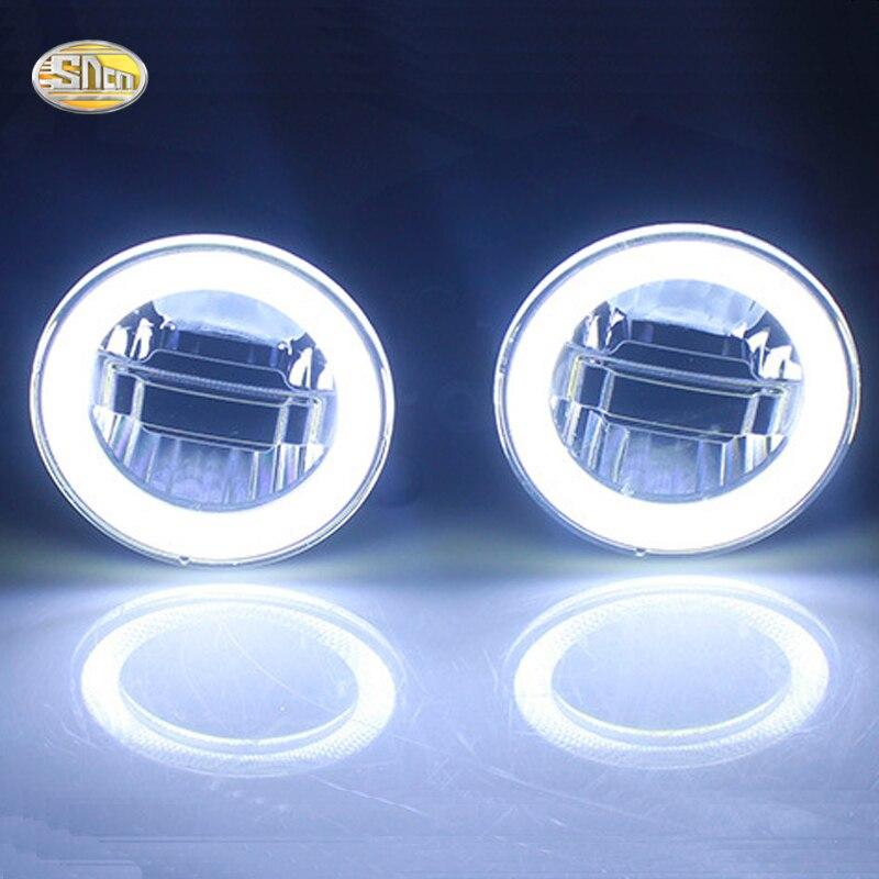SNCN LED Fog lamp for Ford Mustang 2015 2016 2017 Led angle eyes daytime running lights<br>