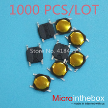 Tact switch 4x4x0.8 Ultra thin 1000PCS/LOT mini micro Membrane switch 4pin smd small size for wearable device watch headset(China)